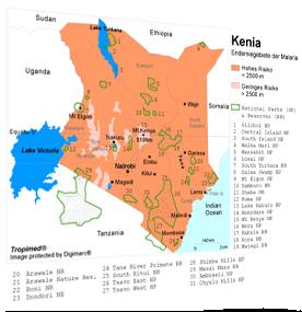 Malaria Kenia Karte.Tropimed Travel Medicine Support System